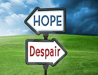 Expressing hope and despair
